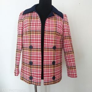 Vintage Union Made Double Knit open front jacket